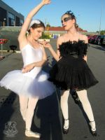 White and Black Swan by MiracoliCosplay