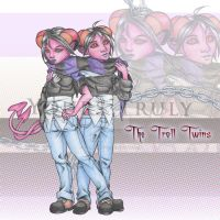 The Troll Twins colored by YoursTruly777