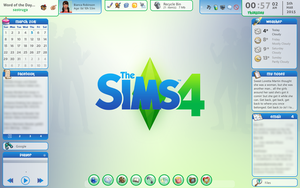 Rainmeter Sims 4 Desktop v.1.2 by cloudedhearts