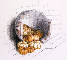 Basket of Gourds by spudsy2