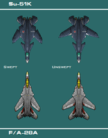 Swing-wing Jet Comparison by PrinzEugn