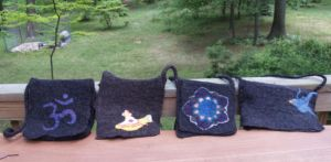 Wet Felted Bags by feltAliza