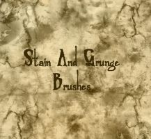 Stain and Grunge Brushes by Kittyd-Stock