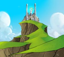 Palace on a hill by Ask-Evin