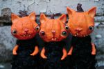 pumpkin monster cats by da-bu-di-bu-da