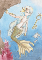 Golden Mermaid by geminis-rin
