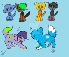 Hehe... random adopts XD SOLD by Snowflame132