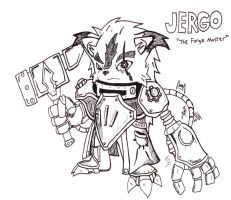 Jergo, the Forge Master (Sketch) by BuukuStudios