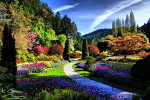 HDR Butchart Gardens by ackbad