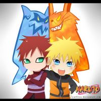 Gaara and Naruto ! XD by carl1tos