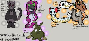 ACTUALLY TRIPLE Clutch of Babes by chibimaker