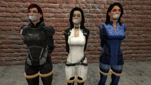 Shepard, Miranda and Ashley tied by DIDLilGirls