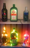 Project: Bottle Lamps by GAME-OVER-CUSTOM