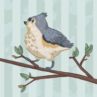 Tufted Titmouse by Cup-Kayke