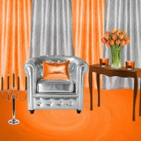 Background Orange Room by weezya
