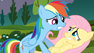 Rainbow Dash and Fluttershy by MysteriousBrony