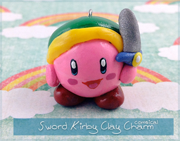 Sword Kirby Clay Charm by Comsical