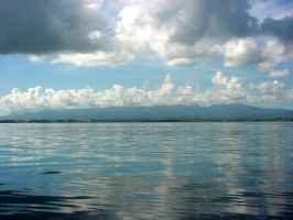Water clouds and the coast by polanri-stock