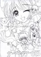 Cardcaptor Sakura group-sketch by Xiao-Lang