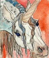 Unicorn ACEO by jupiterjenny