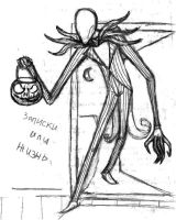 Slenderman aka Jack Skellington by Green-Nightingale