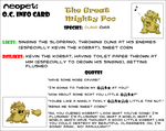 Neopets OC Info Card: The Great Mighty Poo by AlbinoFluttershy