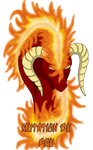Dragoniss Headshot - Mutation of Fire by Naeda