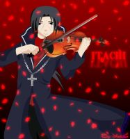 Itachi Uchiha playing violin by HeartlessPrincess1