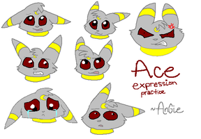 Ace Expression Practice by Angiebutt