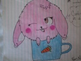 Bunny In A Cup! xD by iFluffy-Pants
