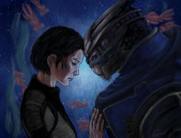 ME Shepard and Garrus by Kistehvost