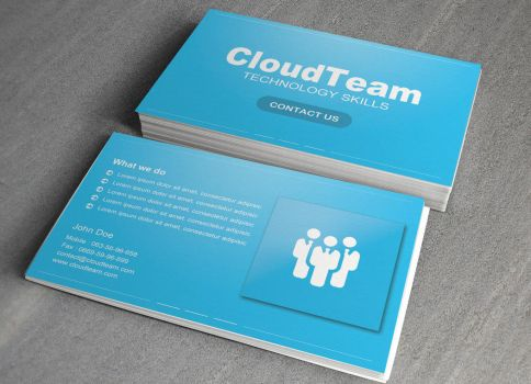 Cloud Team Business Card free PSD by NikCompany