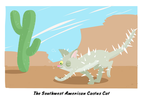 cactus cat by fossick