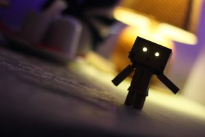 Scary Danbo by lightlanaskywalker
