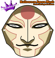Halloween Amon Mask from Avatar Legend of Korra by SKGaleana