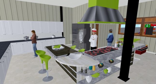Commercial Kitchen Design by LahiruJ