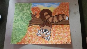 red panda by CeciNicole