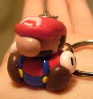 .:Mario Keychain:. by nothing-but-a-dream