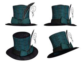 Hat Collection 14 PNG Stock by Roys-Art