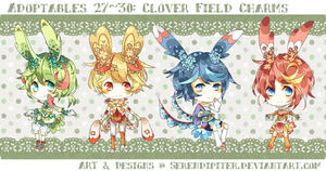 [CLOSED] Adoptables 27~30: Clover Field Charms by Serendipiter