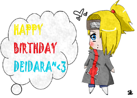 Happy Birthday Deidara by AppleLove-chan
