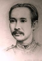 Drawing study King Rama 5 since 2003 by Lilaccu