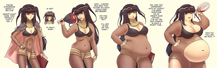Dark Mage Weight Gain by binge-chan