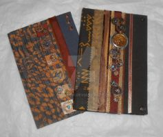 Steampunk Notebook Pair by rockgem