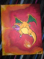 Charizard Painting. by issabissabel