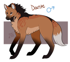 Maned Wolf (M) - Dante by Pastel-Circus