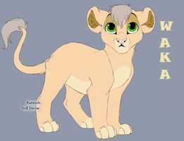 A Cub Named Waka by Pinksneasel