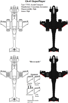 Gilbert Consortium ships - CA-41 SuperFlayer by ATTACK1942