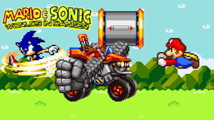 Mario and Sonic vs Dr Eggman by jmkrebs30
