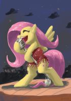 Fluttershy Sings Jazz by DocWario